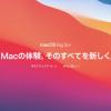 Mac PC をiOS11.1 Big Sur にアップデートしてみた